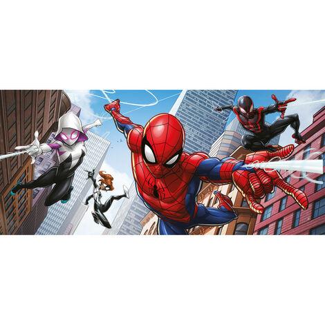 Poster géant - Disney Marvel Avengers Spiderman Miles Morales - 4 personnages qui volent- 202 cm x 90 cm