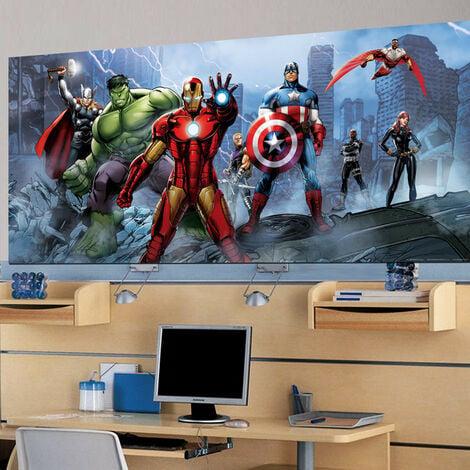 Poster géant équipe Avengers Marvel intisse 202X90 CM