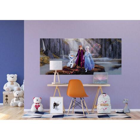 Poster géant Intissé - Disney La Reine des Neiges 2 - modèle Anna et Elsa dans la vallée 202 cm x 90 cm