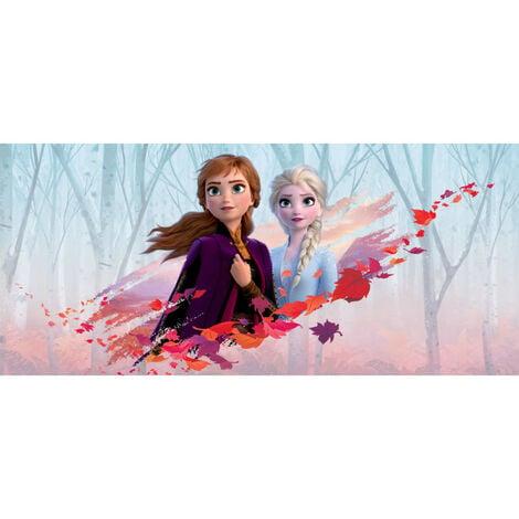 Poster géant Intissé - Disney La Reine des Neiges 2 - modèle Anna et Elsa vent d'automne 202 cm x 90 cm