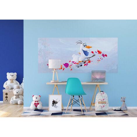 Poster géant Intissé - Disney La Reine des Neiges 2 - modèle Olaf 202 cm x 90 cm