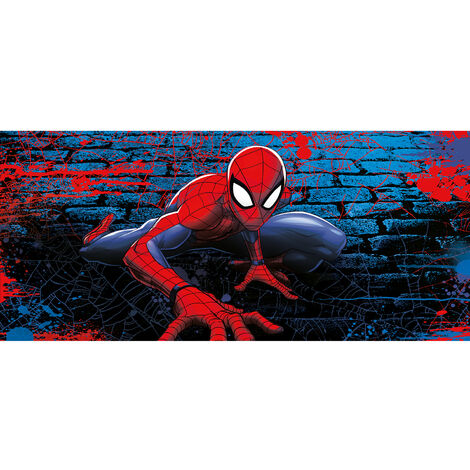 Poster géant - intissé Disney Marvel Avengers - spider man accroupi- 202 cm x 90 cm