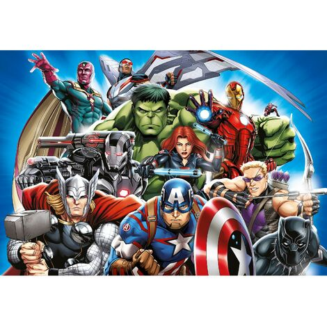 Poster intissé - Disney Marvel -les avengers -10 personnages - 160 cm x 110 cm
