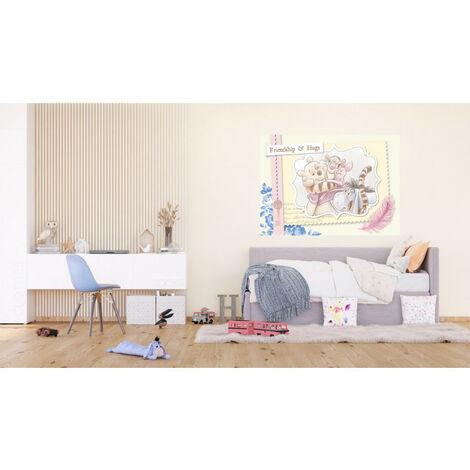 Poster Intissé - Disney Winnie l'ourson - modèle Winnie et ses amis - crayonné 160 cm x 110 cm