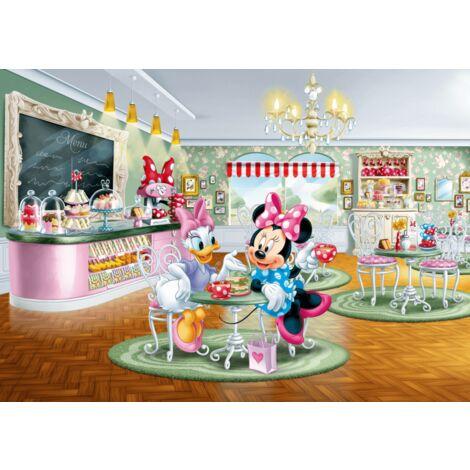 Poster Intissé XXL - Minnie et Daisy au salon de thé - 255 cm x 180 cm