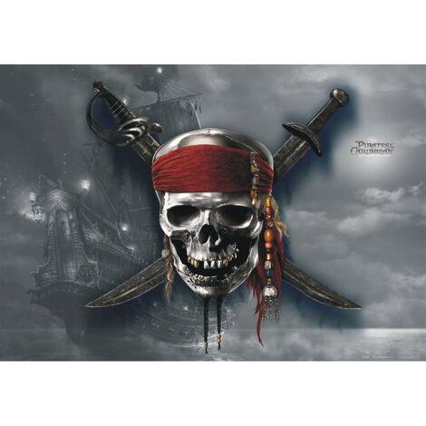 Poster intisse XXL Pirates des Caraïbes Disney 160X115 CM