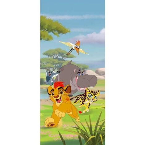 Poster porte La garde du Roi lion Disney intisse 90X202 CM