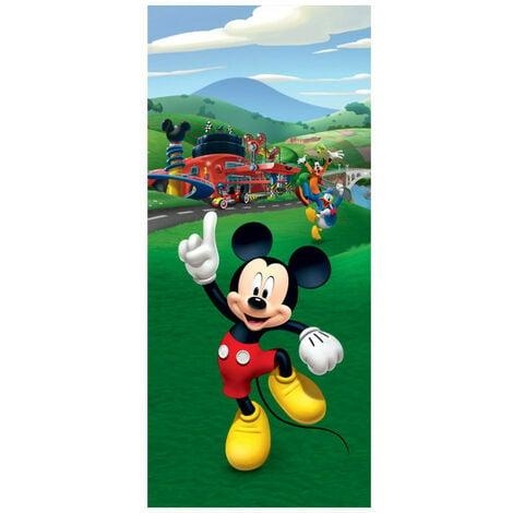 Poster pour porte Mickey Mouse et ses amis Donald et Pluto de Disney intisse 90X202 CM