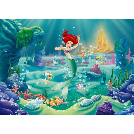 Poster XXL intisse Ariel La Petite Sirène Princesse Disney 160X115 CM