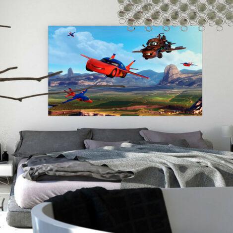 Poster XXL intisse Cars Planes Disney 160X115 CM