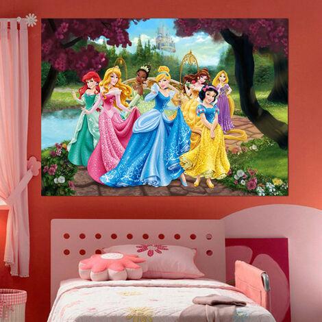Poster XXL intisse Château Princesse Disney 160X115 CM