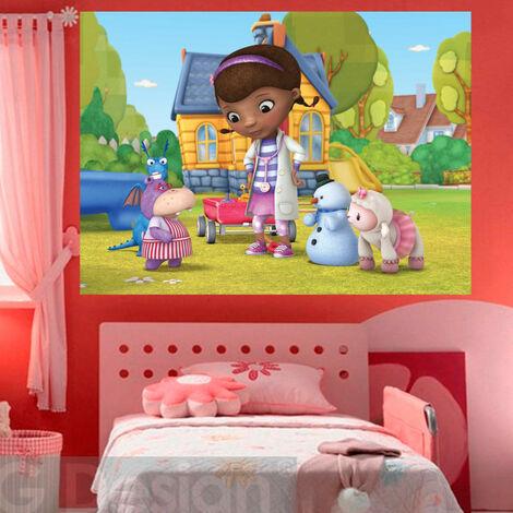 Poster XXL intisse Docteur la Peluche Disney 160X115 CM