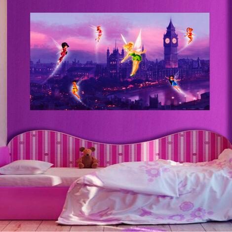 Poster XXL intisse Fée Clochette à Londres Disney fairies 160X115 CM