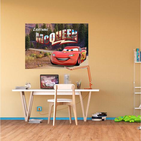 Poster XXL intisse Flash McQueen Cars Disney 160X115 CM