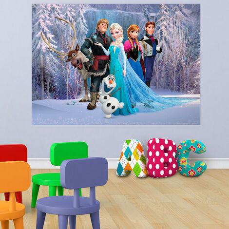 Poster XXL intisse La Reine des Neiges Disney Frozen 160X115 CM