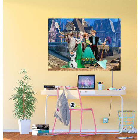 Poster XXL intisse La Reine des Neiges sur pont Disney Frozen 160X115 CM