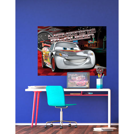 Poster XXL intisse Ligtning McQueen Cars Disney 160X115 CM