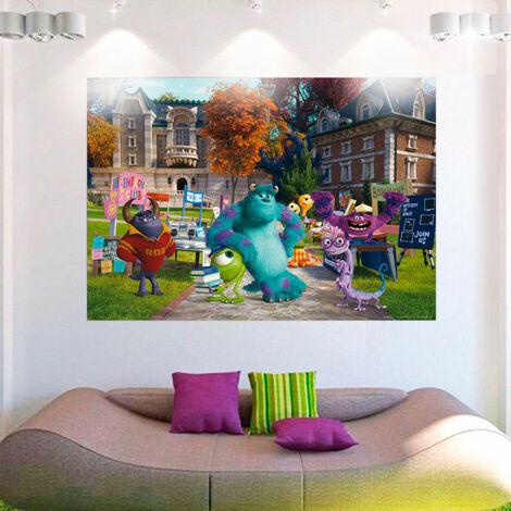 Poster XXL intisse Monstres Academy Pixar 160X115 CM