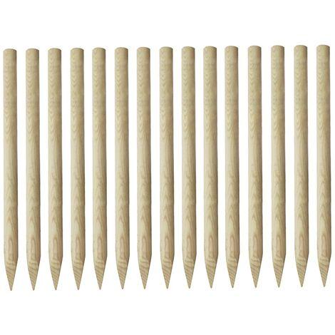 Postes puntiagudos de valla 15 uds pino impregnado 4x170cm