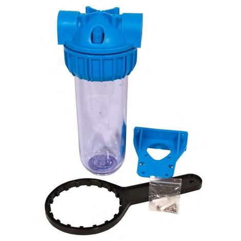 """Pot à filtre 3/4"""" cuve transparente vide avec clé de démontage"""