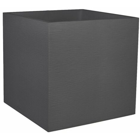 Pot carre graphit 50cm - 57l gris anthracite - double parroi avec zone de retent