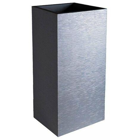 Pot carre haut gris anth graphit 31l ref.13738g.ant