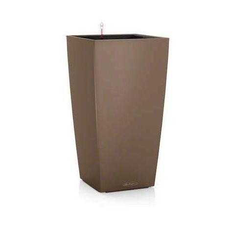 """main image of """"Pot Cubico Color 22 Lechuza Kit Complet   22 cm - Chocolat"""""""