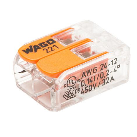 """main image of """"Pot de 50 bornes de connexion automatique 2 entrées S221 - WAGO"""""""