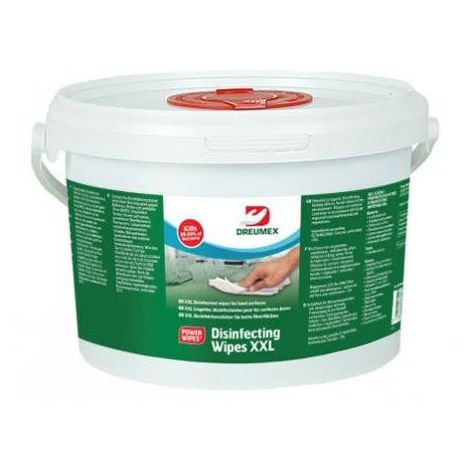 Pot de 80 lingettes virucide Desinfecting Wipes XXL - Dreumex - 66700801002