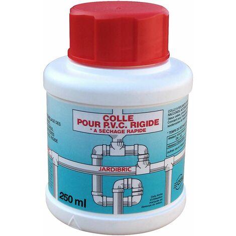 Pot de colle PVC, 250 ml colle à solvants pour assemblage de Tuyauteries, Raccords