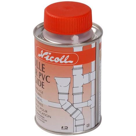 Pot de colle PVC solvant fort 200ml + pinceau