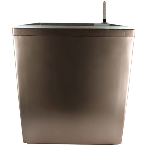 Pot De Fleur Carre, Avec Arrosage Automatique, 39X39X43 Cm, Cafe