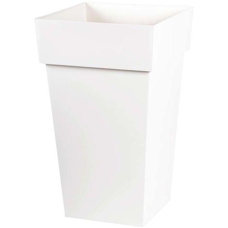 """main image of """"Pot de fleur carré Toscane 39 x H.65 cm - Blanc"""""""