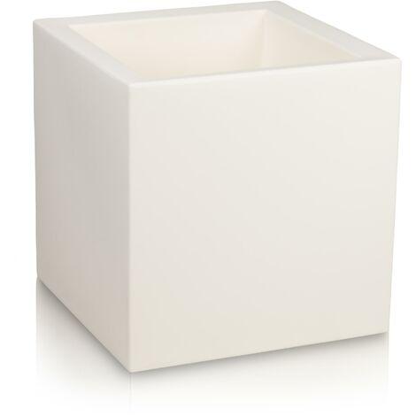 Pot de fleur CUBO 60 en plastique, dimensions: 60x60x60 cm (L/P/H), couleur: blanc mate