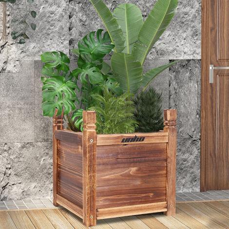 """main image of """"Pot de Fleur Extérieur Grande Taille en Bois 30x30x33cm Bac Potager Jardinière pour Plante Fleur Arbre"""""""