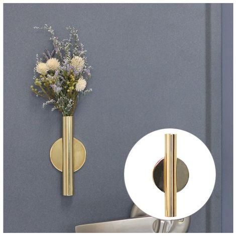 Pot de fleur or Accueil Art mural Décoration suspendue Arrangement de fleurs artificielles Support en métal Vase