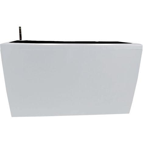 Pot De Fleur Rectangulaire, Avec Arrosage Automatique, 75X30X43 Cm, Blanc