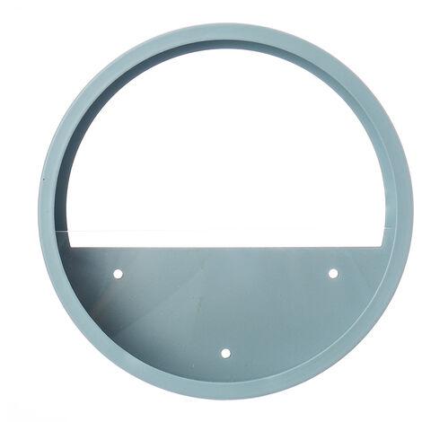 Pot de fleur suspendu acrylique en fer rond Vase planteur bleu 25 CM