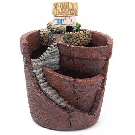 Pot De Fleur Suspendu Jardin En Pot Conte De Fees Monde Plante Succulente Plante Maison Resine Decoration