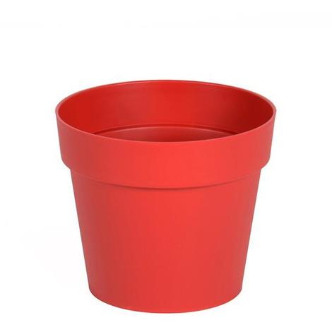 Pot de fleur Toscane Ø13x11,6cm rond - 1,1L - Rouge rubis
