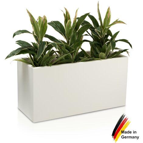 Pot de fleur VISIO 50 en plastique, dimensions: 100x40x50 cm (L/P/H), couleur: blanc mate