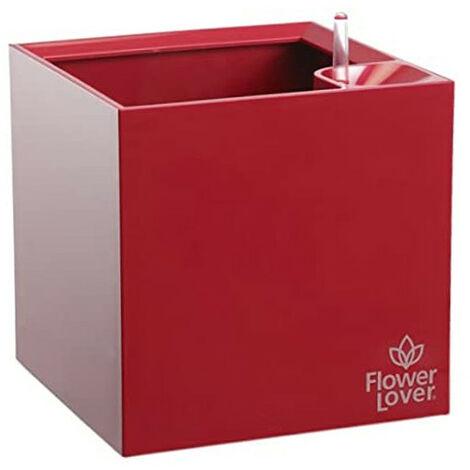 Pot de fleurs - Cubico - Rouge élégant - 9x9x9cm - Flower Lover