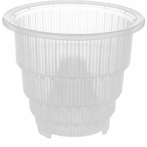 Pot de fleurs en plastique transparent pour orchidée - Décoration de jardin