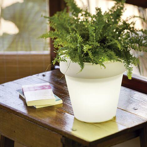 Pot de fleurs lumineux 30 MOOVERE solaire+batterie rechargeable