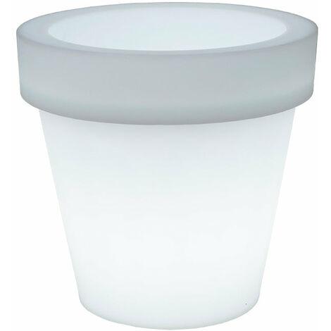 Pot de fleurs lumineux MOOVERE 45 blanc translucide