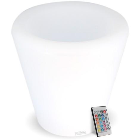 Pot de fleurs lumineux rechargeable LED 27 cm