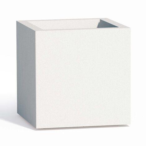 Pot de fleurs mod. Cube en résine Carré