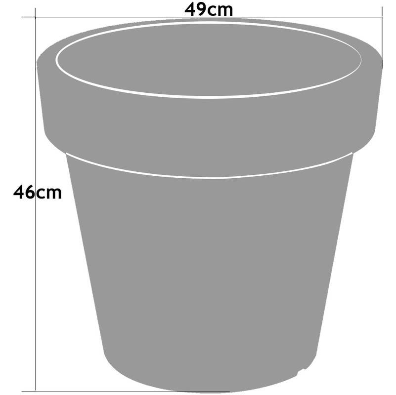Pot De Fleurs Plantes Jardiniere Xxl Lofly En Plastique 49x46cm Anthracite