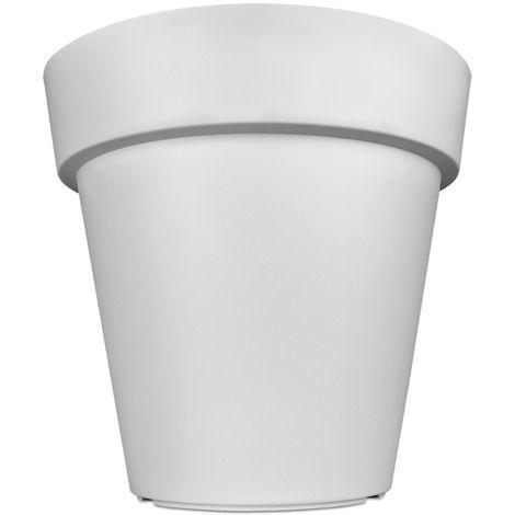 Pot De Fleurs Plantes Jardiniere Xxl Lofly En Plastique 49x46cm Blanc
