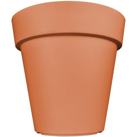 Pot de fleurs plantes jardini re xxl lofly en plastique 49x46cm terracotta 192717 - Jardiniere xxl ...